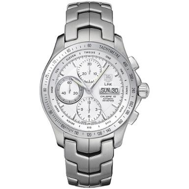 TAG Heuer Men : Link Automatic Chronograph Day-Date Watch